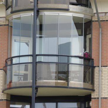 Balkonscherm glas