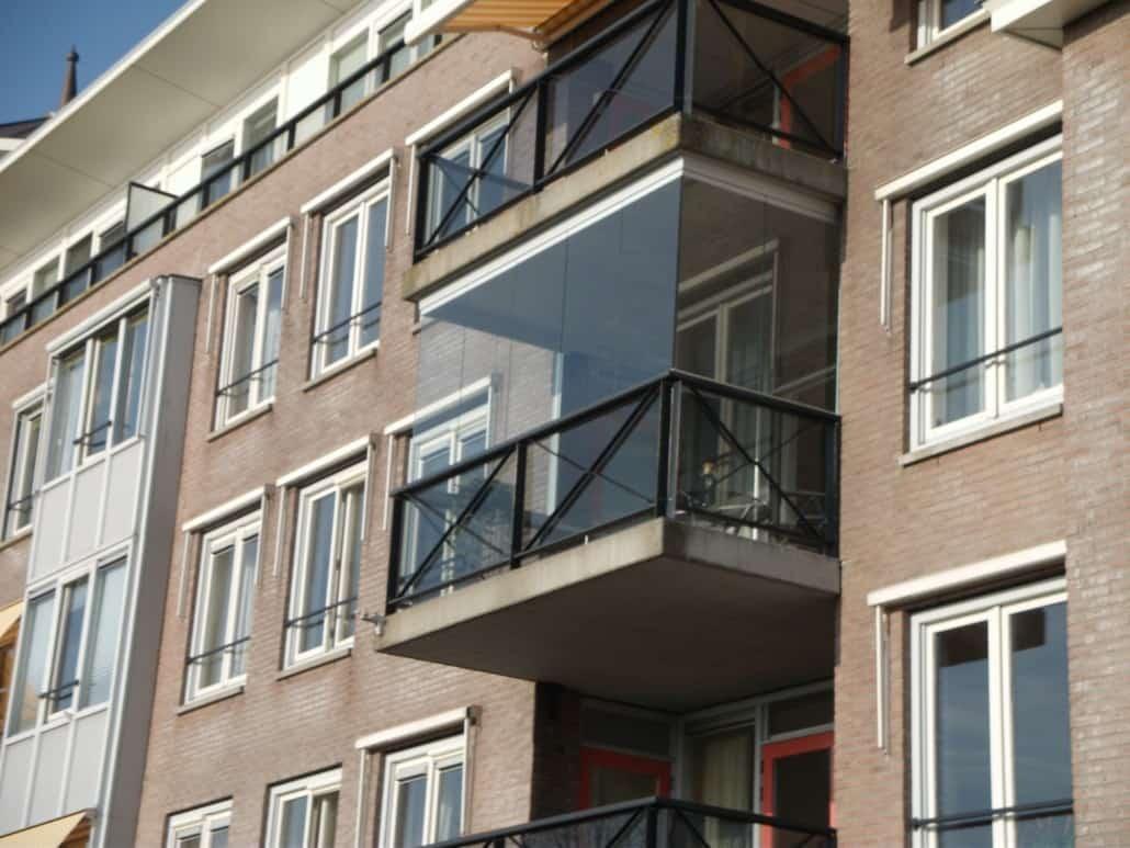 Balkon dichtmaken met glas